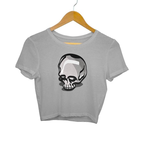 Funny Skull Crop Top