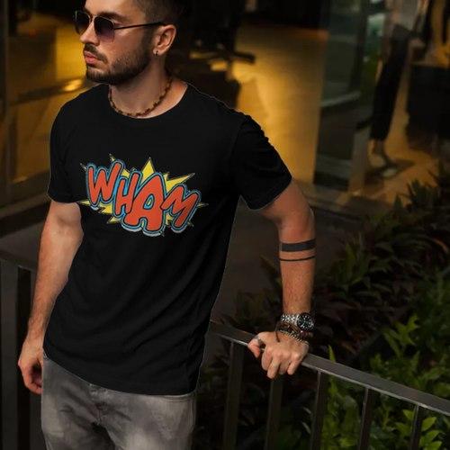 Wham Comic Print Round Neck Tshirt