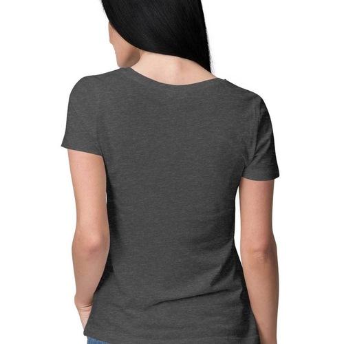 Women Cancer Sign Round Neck Tshirt