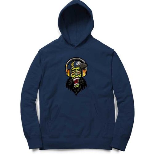 DJ Skull Print Hoodie