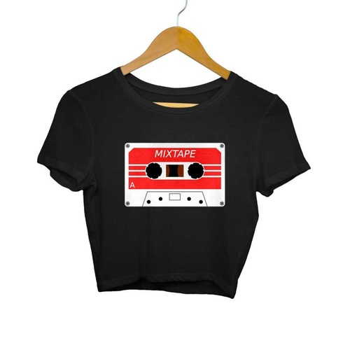 Mix Tape cassette Crop Top