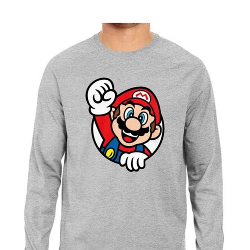 Mario Bros Full Sleeves Tshirt