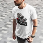 Bike Graffiti Round Neck Tshirt