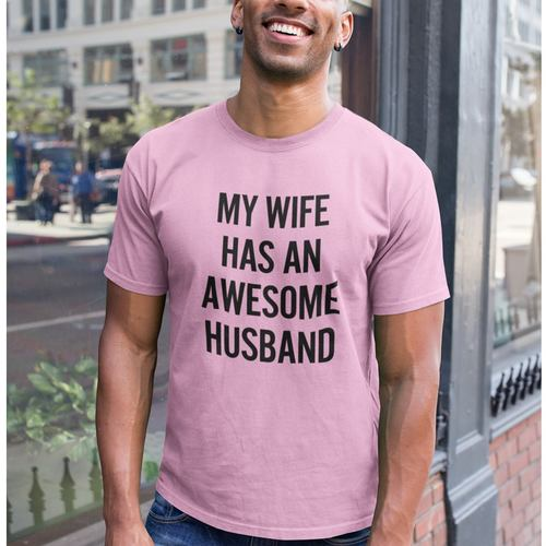 Awesome Husband Round Neck Tshirt