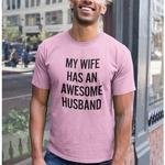 Awesome Husband Round Neck Tshirt