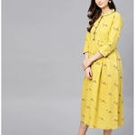 Women Cotton Printed Anarkali Kurti Dress