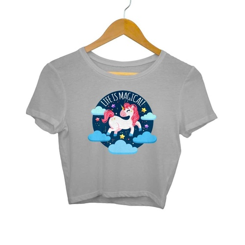 Happy Unicorn Crop Top