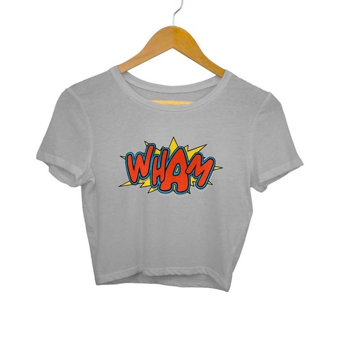 Wham Print Crop Top