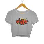 Wham Print Crop Top