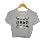 Skull Emoji Crop Top