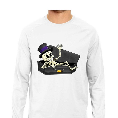 Skull From The Coffin Full Sleeves Tshirt