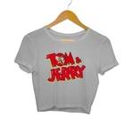 Tom & Jerry Printed Crop Top