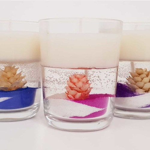 Candle making - Soy jar candle Layerd dry flower decoration