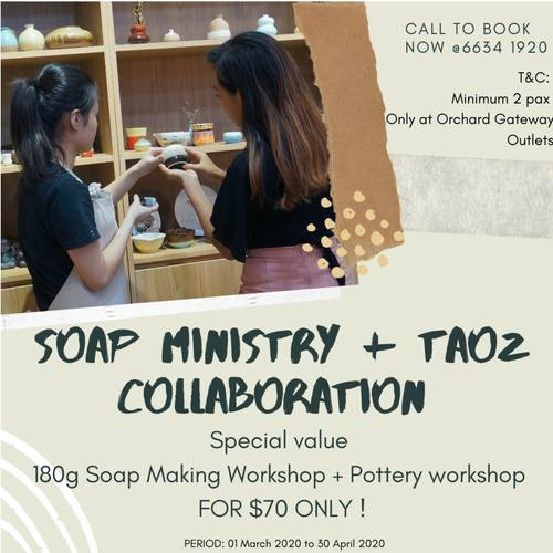 Full-Day Experience Basic Ceramic and Soap Making Workshop