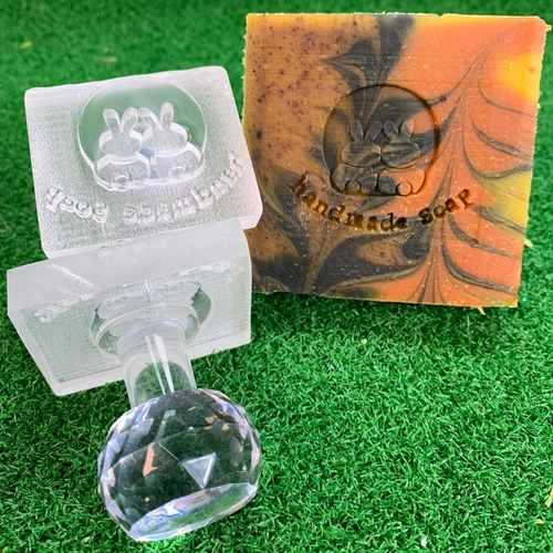 Bunnies Handmade Soap Acrylic Soap Stamp