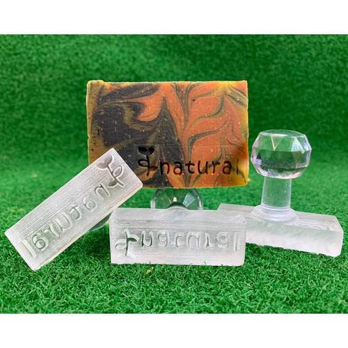 Natural Sprout Acrylic Soap Stamp