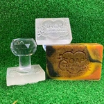 Soap Handmade Cloud and Rose Acrylic Soap Stamp