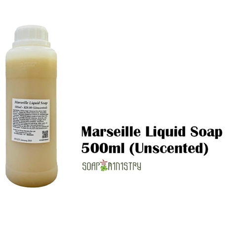 Marseille Liquid Soap (Unscented) 500ml