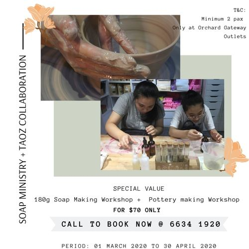 Full-Day Experience (Basic Ceramic and Soap Making Workshop)