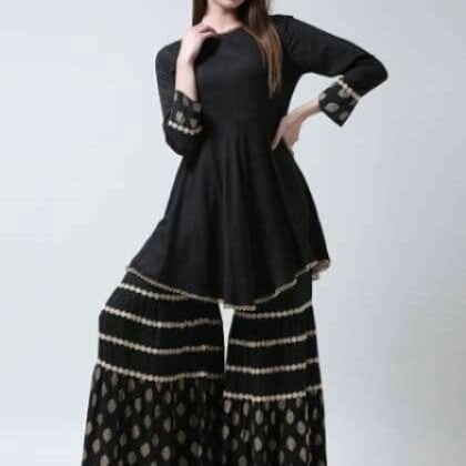 plus size gharara suit