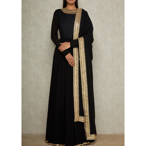 plus size georgette anarkali