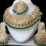 gold plated jadau set