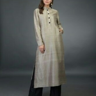 Raw silk Kurta and plazzo. (plus size available)