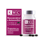 KWC Resveratrol & Astaxanthin - 60 capsules