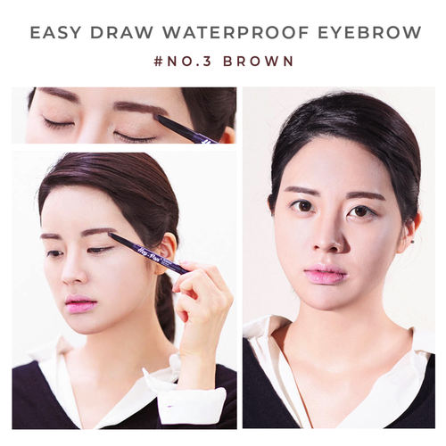Heynature Hey-Pop Easy Draw Waterproof Eyebrow No.3 Brown