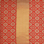 """KNL Red Brocade Jharokha Cushion Cover 12""""x12"""" Size"""