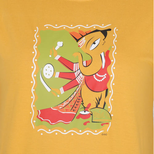 KMDPL Ganesha T Shirt 09 Yellow