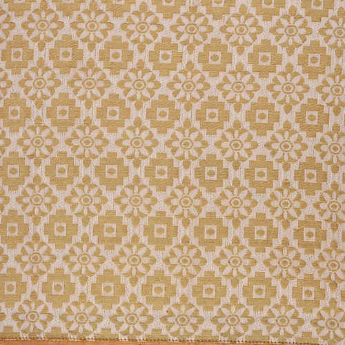 "KNL White Brocade Jharokha Cushion Cover 16""x16"" Size"