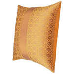 "KNL Yellow Brocade Jharokha Cushion Cover 12""x12"" Size"