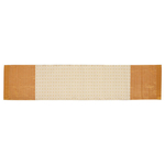 KNL White Brocade Jharokha Runner  64 x 13 Size