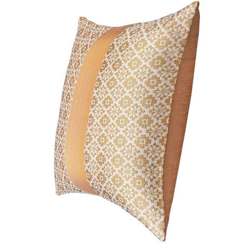 "KNL White Brocade Jharokha Cushion Cover 12""x12"" Size"