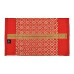 KNL Red Brocade Jharokha Tissue Box Cover