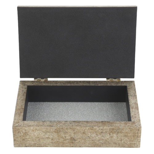 "DTF Gift Box Medium 8""x5"" Antique Silver Finish"