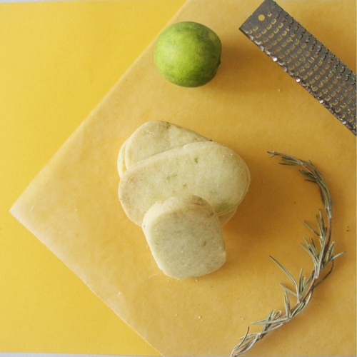 Rosemary & Lime Shortbread Cookies [Eggless]