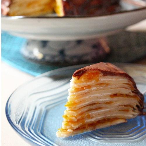 Dark Chocolate Orange Marmalade Crepe Cake
