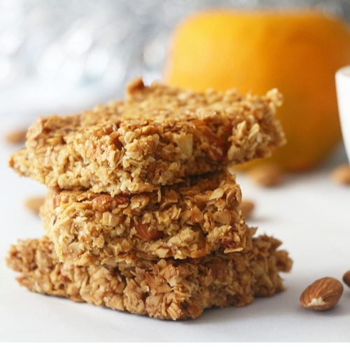 Orange Almond Granola Bars [Eggless]
