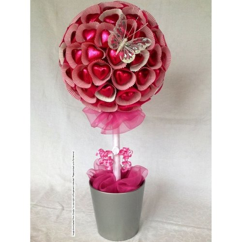 Heart Chocolate Bouquet Pot