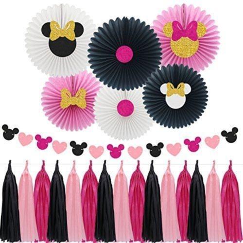 Pink & Black Minnie Decor Combo