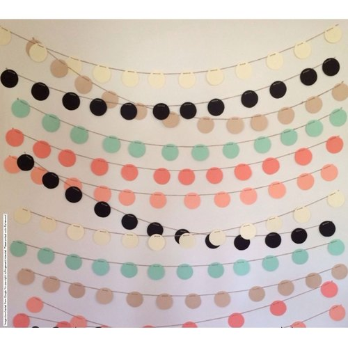 Round Colorful Garlands - Pack of 6