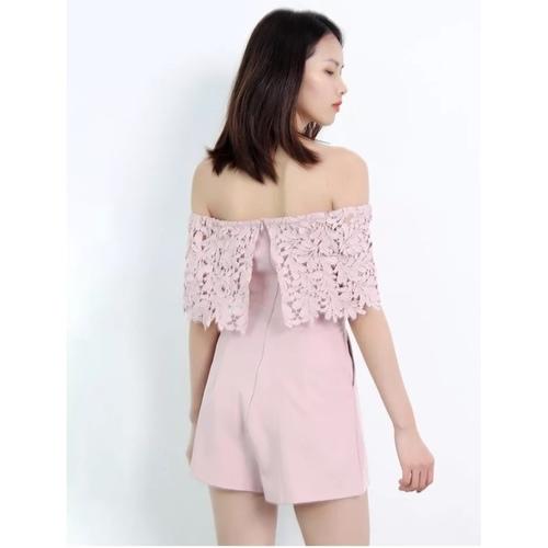 Arissa Crochet Tube Romper (Pink)
