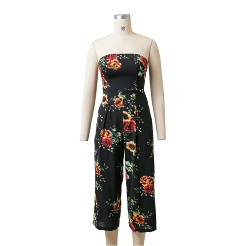 Floral Tube Jumpsuits
