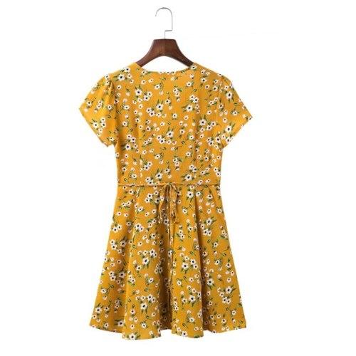 Daisy Kimono Tie Dress