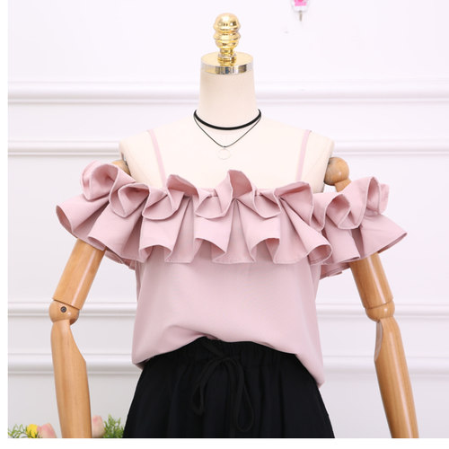 Ruffle Flare Off Shoulder