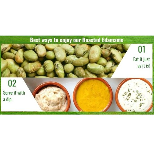 Dry-Roasted Green Soybeans (Edamame) [500g] - Value Pack