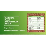 Natural Raw Brown Flax Seeds [500g] - Value Pack