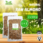 Natural Raw Almond 500g x2 - Value Bundle 1+1